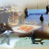 Bodenprojektion auf französisch – in Canada wird eine Kreuzung beleuchtet